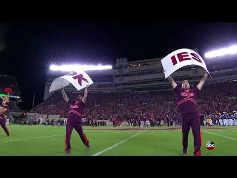 2017 FULL Enter Sandman Entrance  12 Virginia Tech vs 2 Clemson  9302017