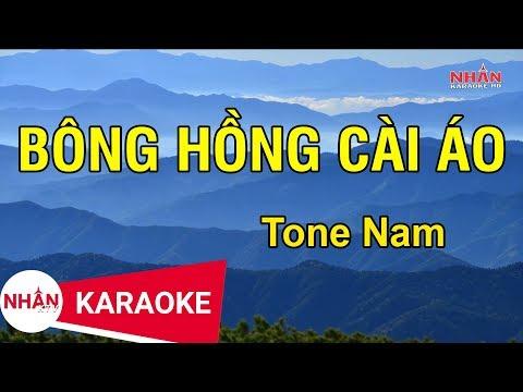 Bông Hồng Cài Áo (Karaoke Beat) - Tone Nam