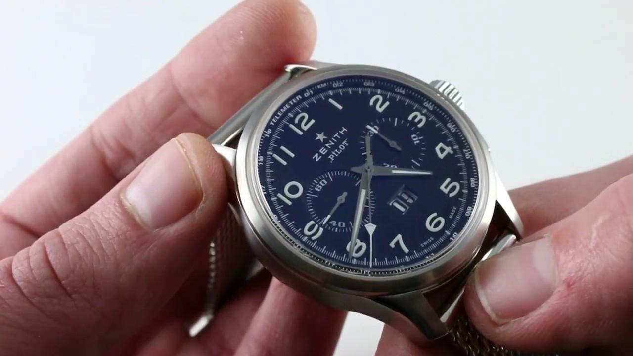 e2e5605eb78 Pre-Owned Zenith El Primero Pilot Big Date Special 03.2410.4010 21.M2410  Luxury Watch Review