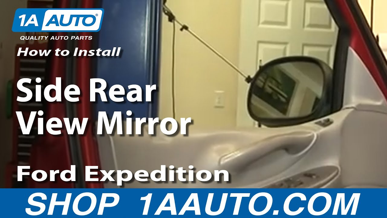 maxresdefault how to install replace side rear view mirror ford f 150 expedition 2001 Ford Expedition Wiring Harness at crackthecode.co