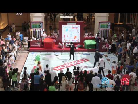 A glimpse of Monopoly at Mall Of The Emirates