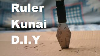 Make A Simple Throwing Knife (Using Ruler!!)