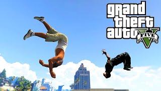 Grand Theft Auto V: GTA 5 - Parkour Fails # 6 (Best Parkour Stunts, John Cena, Vines, Ninja Skills)