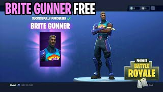 "*NEW* Fortnite: How To Get The ""BRITE GUNNER"" SKIN For FREE! (Free V-Bucks) Brite Bag/Brite Gunner!"