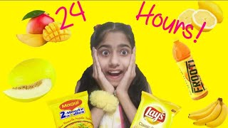 I only eat *yellow* food for 24 hours | 💛Dhwani Creations 💛