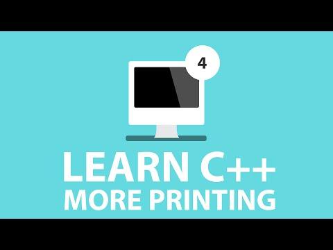 C++ Programming Tutorials - 4 - More Printing