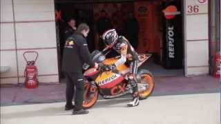 Marc Marquez back on track Moto2 testing at Albacete