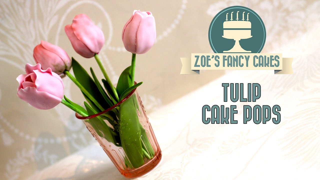 Decorating Cake Pops Fondant : How to make tulip cake pops flower cake pop tutorial cake ...