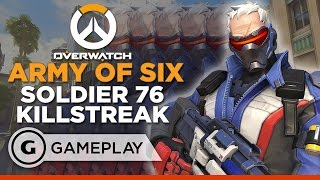 Army of Six Soldier 76 Killstreak - Overwatch Gameplay