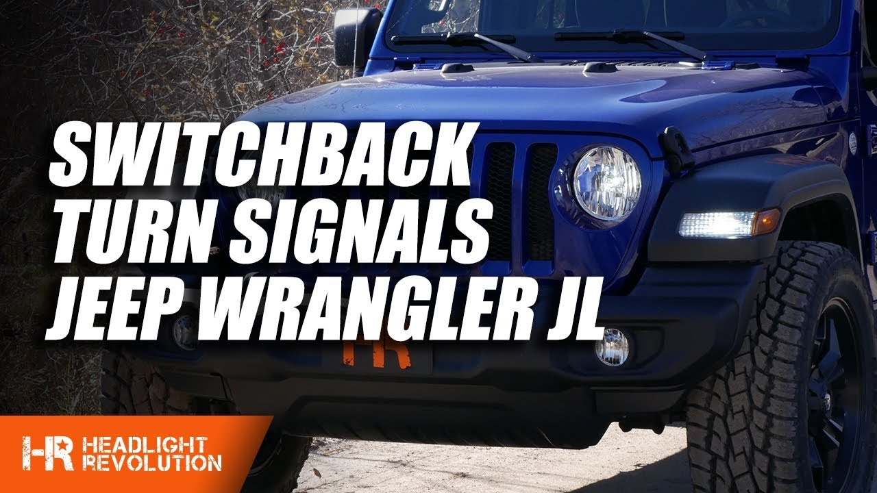 hight resolution of 2019 jeep wrangler jl switchback led front turn signal bulb upgrade install and wiring