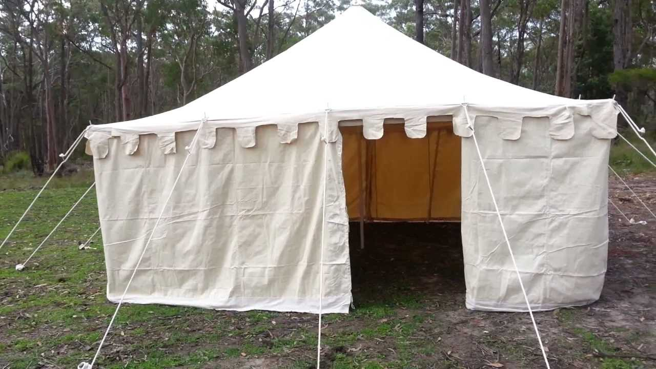& Tent square marquee inside 5m - YouTube