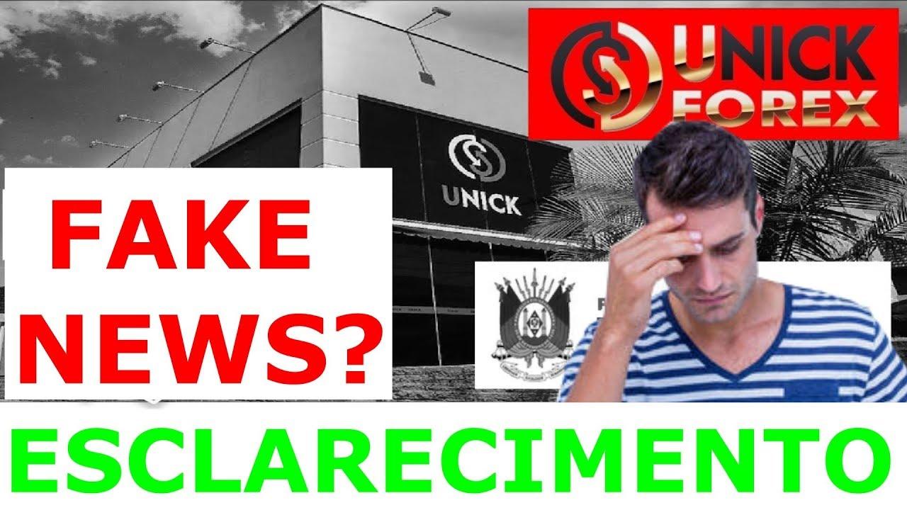 ESCLARECIMENTO sobre o VÍDEO da UNICK FOREX, apresentei FAKE NEWS? (ASSISTA ATÉ o FIM e ENTENDA)