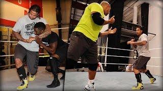 Wiese beim Wrestling-Training