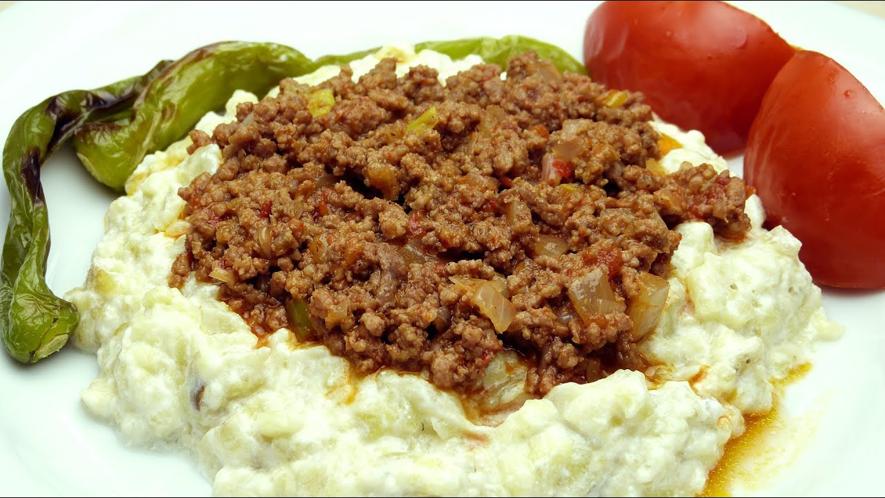 Turkish kebab recipe eggplant puree with ground beef youtube forumfinder Choice Image