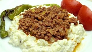 Turkish Kebab Recipe - Eggplant Puree With Ground Beef