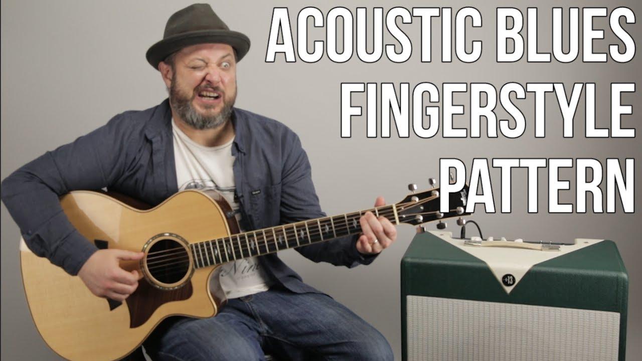 acoustic blues guitar lesson fingerstyle pattern for acoustic blues youtube. Black Bedroom Furniture Sets. Home Design Ideas