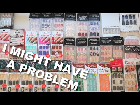 My Ridiculous Press On Nail Collection   Bailey B.