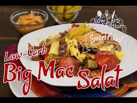 big mac salat mit selbstgemachter big mac sauce low carb rezept youtube. Black Bedroom Furniture Sets. Home Design Ideas