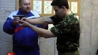 Оспищев С.В. Стойка с оружием при стрельбе с двух рук.