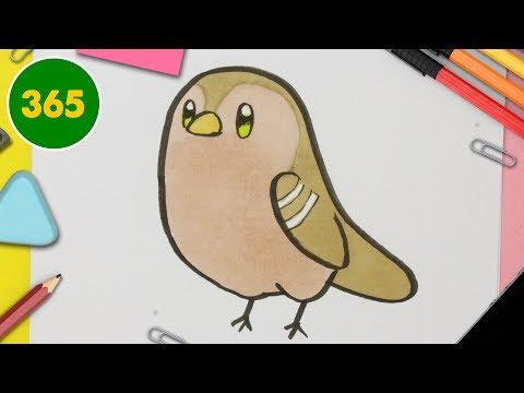 Disegni Di Uccelli Da Colorare Per Bambini Come Disegnare