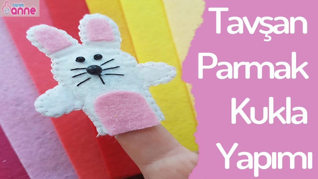 Tavşan Parmak Kukla Yapımı - DIY - Kendin Yap @Canım Anne