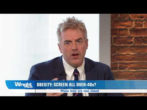 Donal MacIntyre talks about obesity screening's for anyone over 40 #wrightstuff