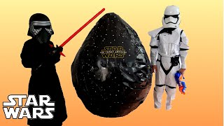 GIANT EGG SURPRISE Opening Star Wars Episode 7 The Force Awakens Movie Toys Star Wars VII Movie Toys
