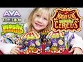 Backpack full of MOSHI MONSTERS The Magnificent Moshi Circus blind bags and Series 5 and 4