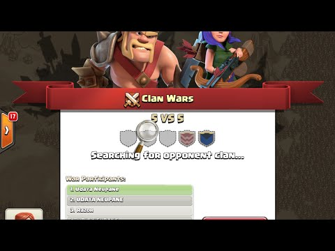 5v5 War For The First Time! All 5 My Accounts V/S Chinese Clan in Clash Of Clans