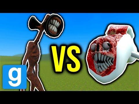 SIREN HEAD VS BRIDGE WORM!! (gmod Nextbot)