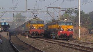 Indian Railways - 3 High Speed Overtakes of Bhusaval Passenger in Khadavli Loop !!