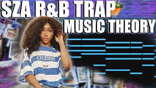 HOW TO MAKE R&B TRAP FOR SZA AND SUMMER WALKER   FL STUDIO MUSIC THEORY TUTORIAL 2021