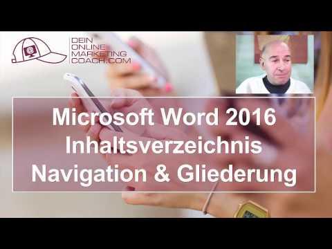 Word 2016 Inhaltsverzeichnis erstellen & mit Navigationsbereich arbeiten