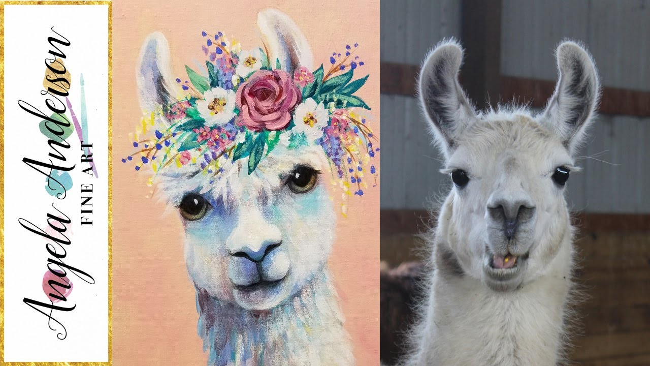 Boho Llama LIVE Acrylic Painting Tutorial - YouTube