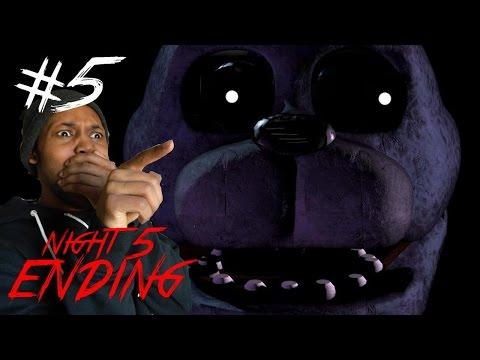 Five Nights At Freddy's ENDING [5] NIGHT 5 GLITCH SCREAM!?