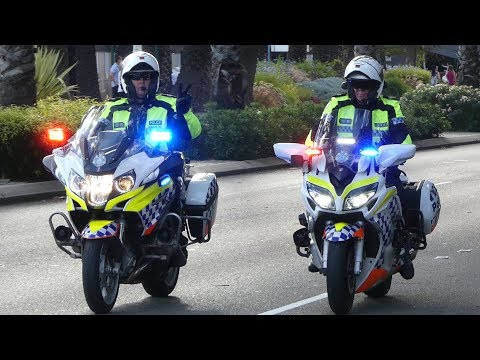 Police Escort Queen's Baton Relay, Perth W.A. 24 Feb 2018