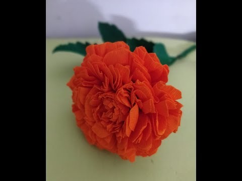How to make Marigold Flower/ easy paper Marigold