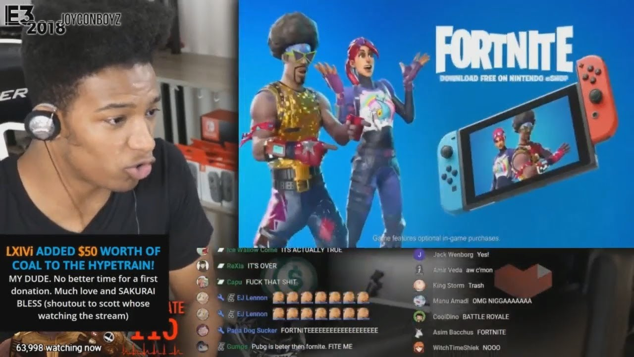 Etika Reacts to Fortnite: Switch [Etika Stream Highlight]