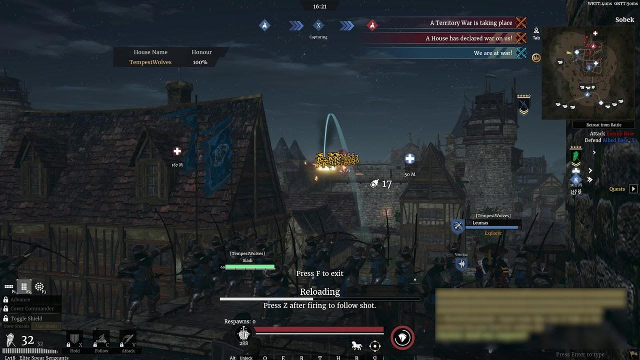 Attack on Sobek - Tempest Wolves vs  Digital Order - Conqueror's Blade  Territory War (8/10/2019)