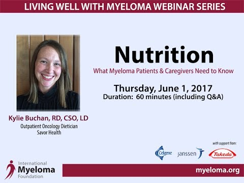 Living Well With Myeloma: Nutrition