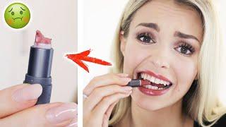 Essbare Lippenstifte 😳 Ich esse 1 kompletten Lippenstift