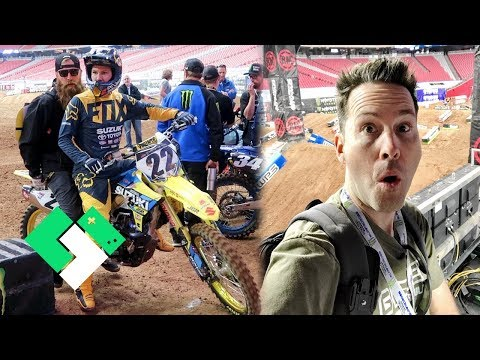 On The Track at Supercross Glendale! | Clintus.tv