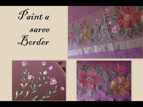 Fabric Painting Border Design