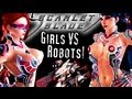 SEXY GIRLS Fight ROBOTS! Scarlet Blade MMO!