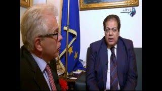 زعيم الأغلبية بالبرلمان الإيطالي يقدم لـ'أبوالعينين' الدليل على براءة مصر من دم 'ريجيني'.. (فيديو)