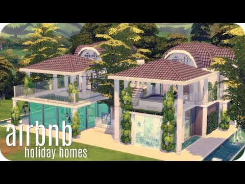 AIRBNB HOLIDAY HOMES | Sims 4 House Building