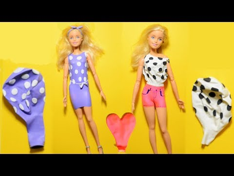 DIY Barbie Dresses with Balloons | No Sew Clothes for Barbies | Creative Fun for Kids