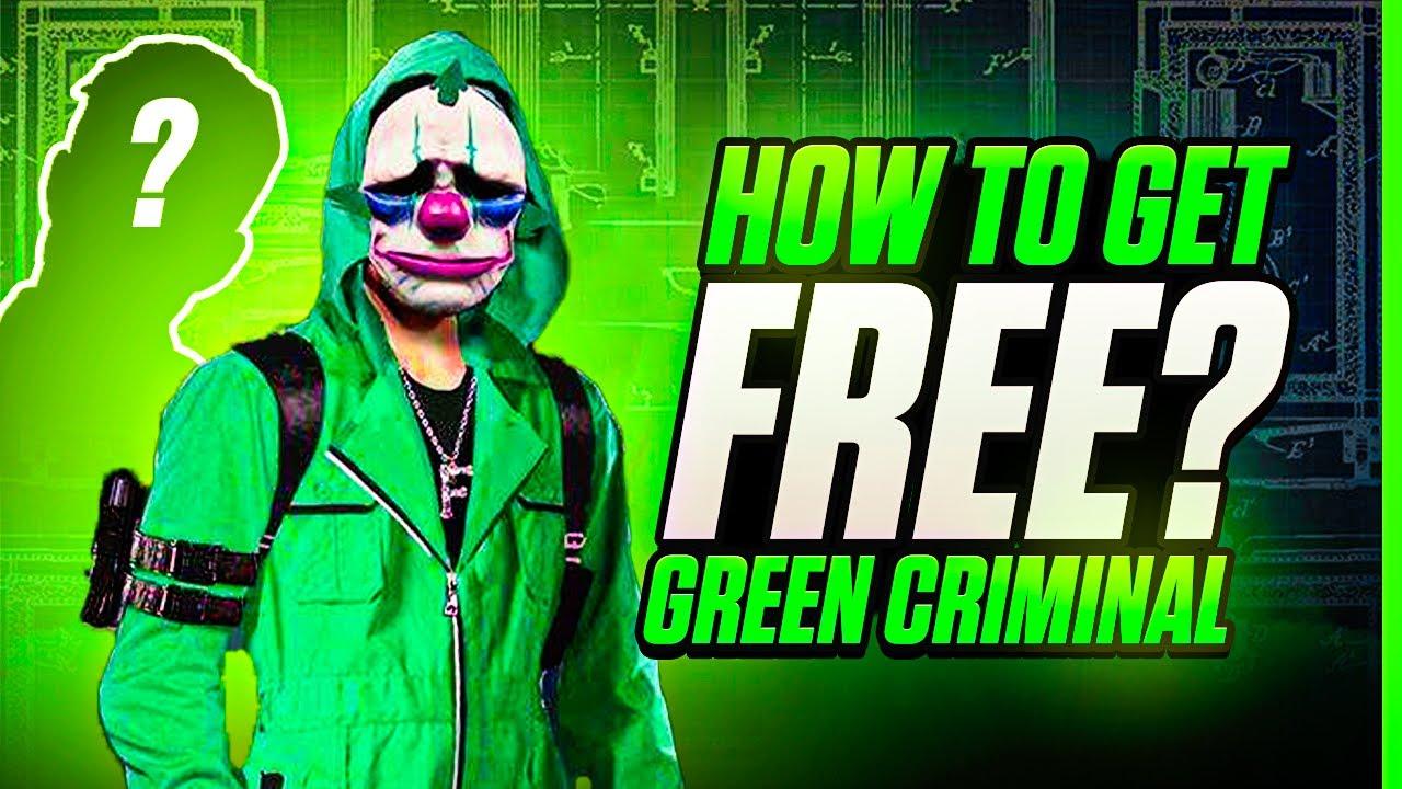 Free Green Criminal Bundle Best Trick   Garena Free Fire