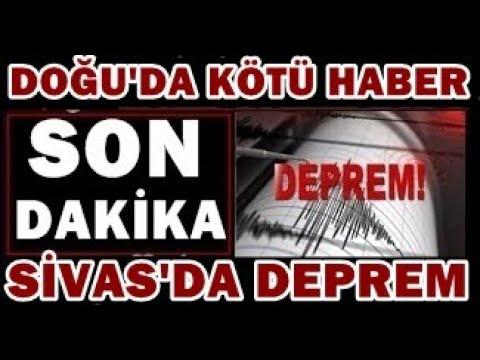 SİVAS'dan KÖTÜ Haber! ŞİDDETLİ Korkutan DEPREM! SON DAKİKA Açıklaması