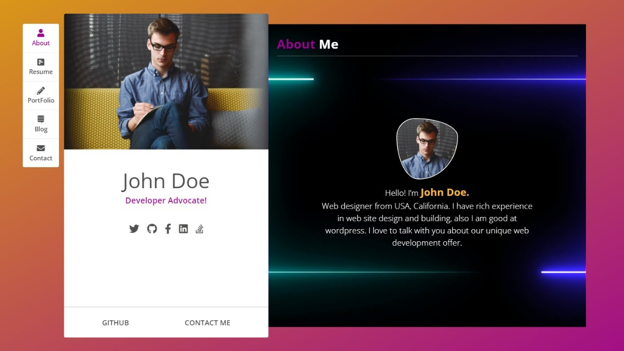 Build A Complete Portfolio Website With HTML, CSS And JavaScript